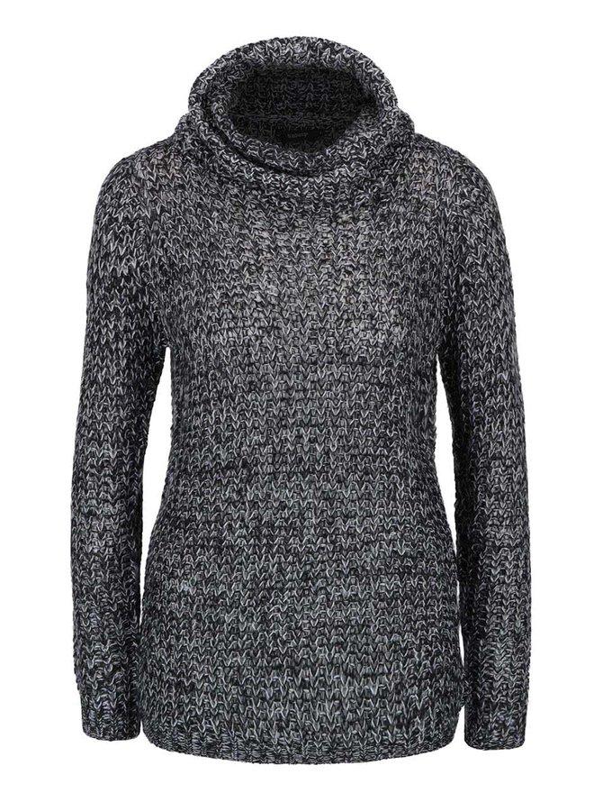 Krémovo-černý svetr s rolákem Mimei b.young