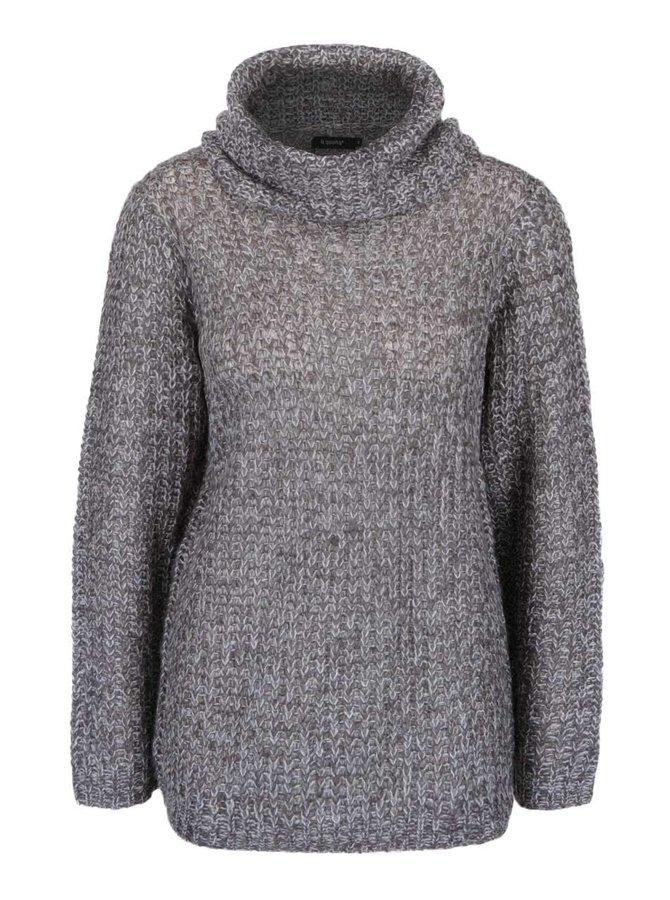 Krémovo-šedý svetr s rolákem Mimei b.young