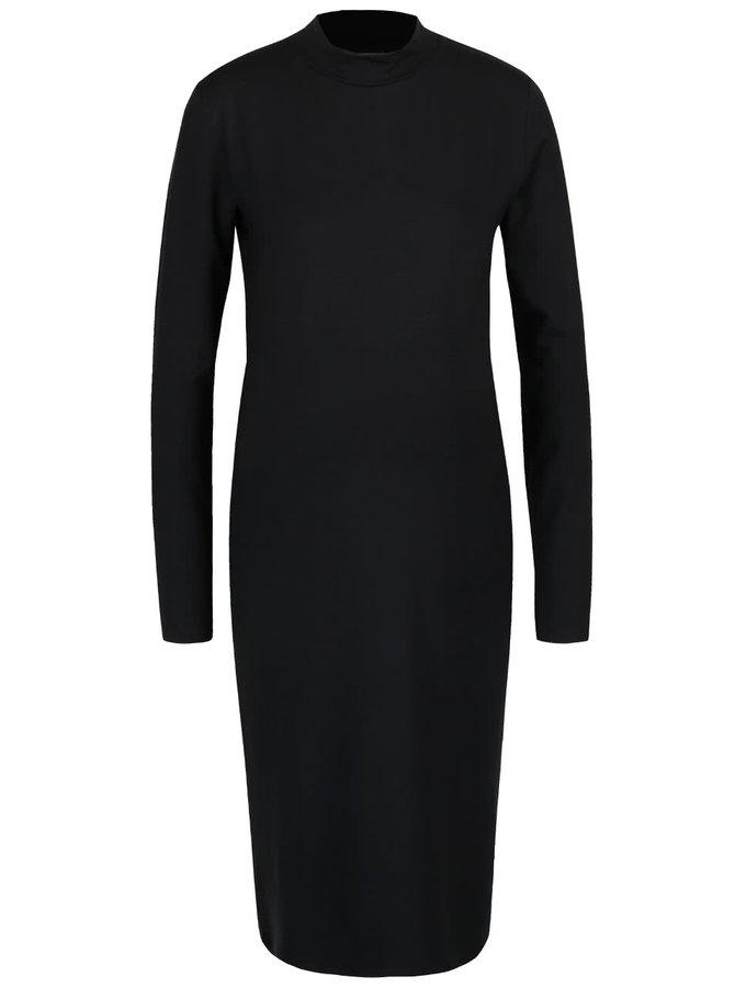 Černé rolákové těhotenské šaty Mama.licious Petit
