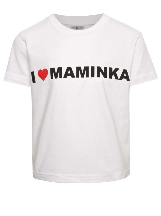 Bílé dětské unisex triko ZOOT Kids - I Love Maminka