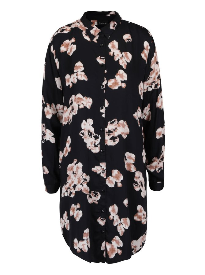Černé šaty s květy Hertrud b.young