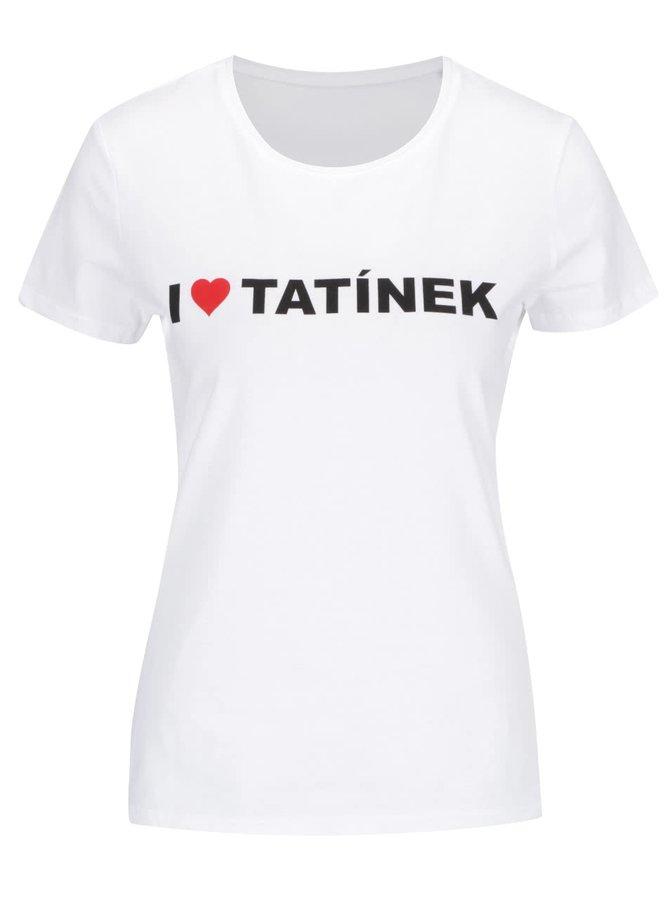 Bílé dámské tričko ZOOT Originál I Love Tatínek