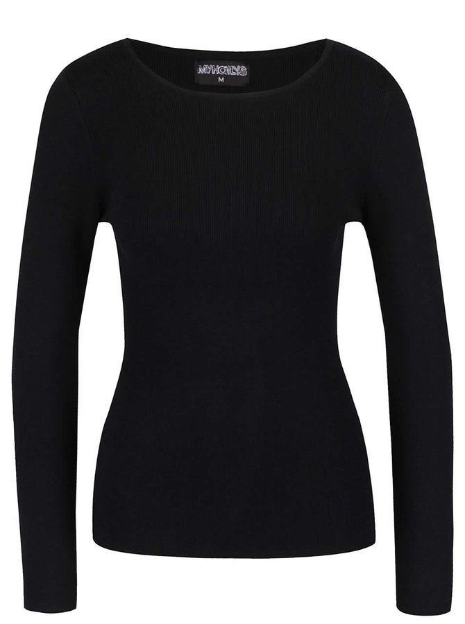 Černé tričko s dlouhým rukávem Haily´s Karen