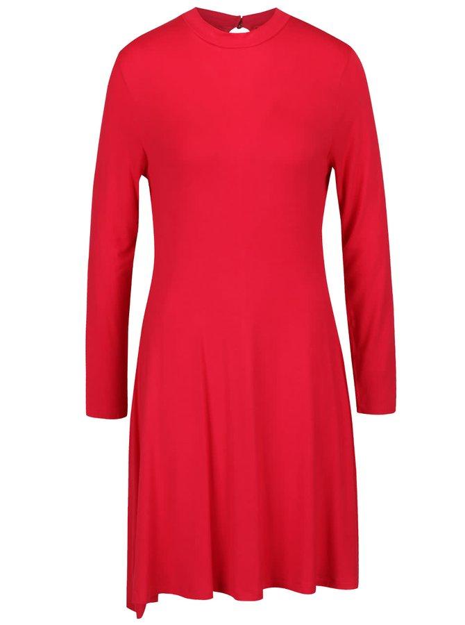 Rochie roșie b.young Segina cu mâneci lungi