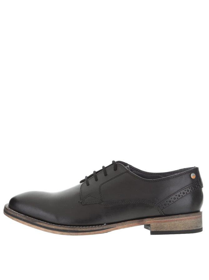 Černé kožené kotníkové boty Frank Wright Merton