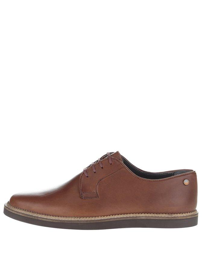 Pantofi maro Frank Wright Turpin din piele naturală