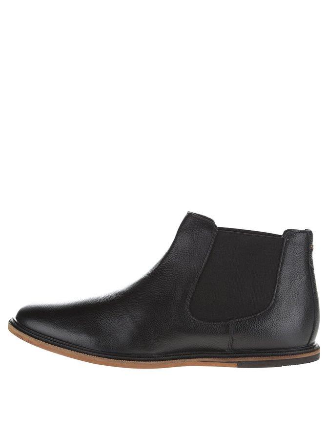 Černé kožené pánské chelsea boty Frank Wright Vogts