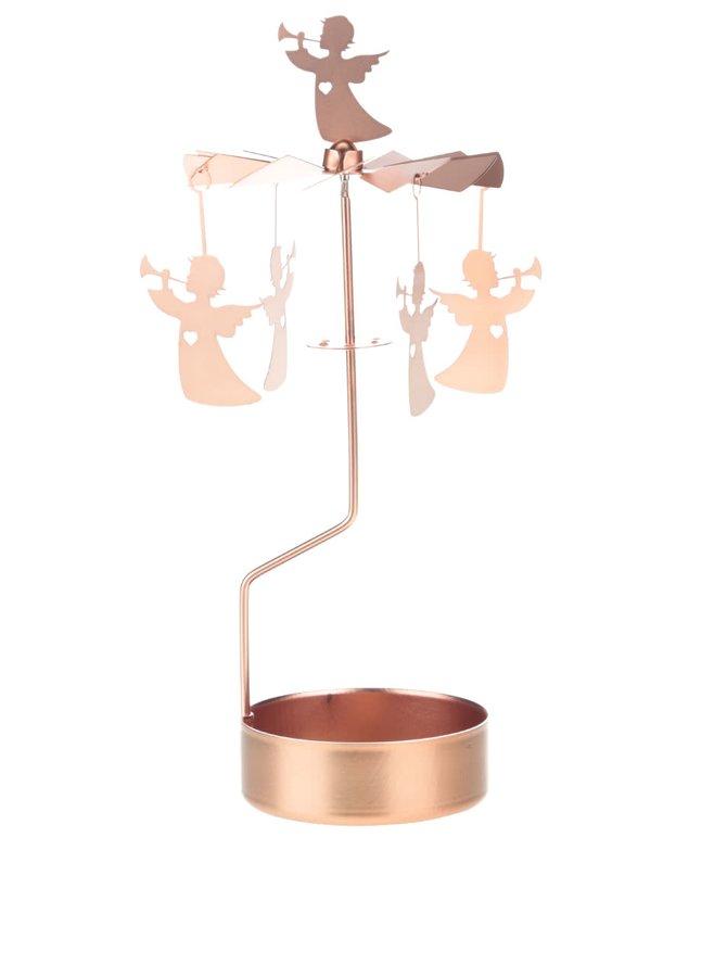 Otáčivý svícen s anděly v bronzové barvě Sass & Belle