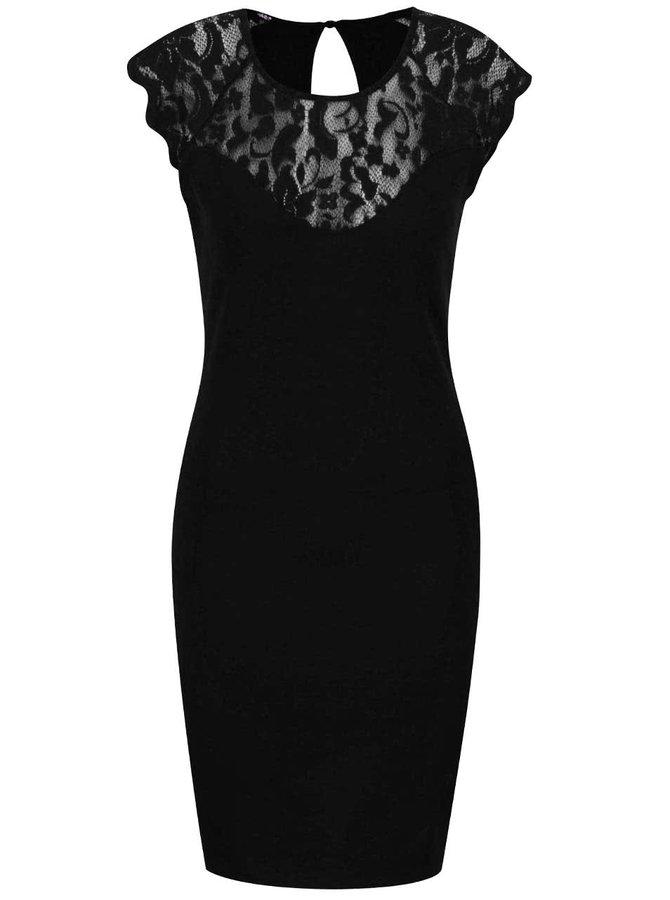 Černé šaty s krajkovými detaily ONLY Elenta
