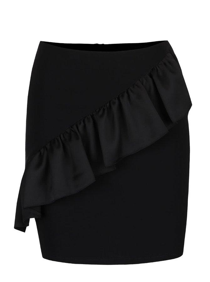 Čierna krátka sukňa s volánom Miss Selfridge