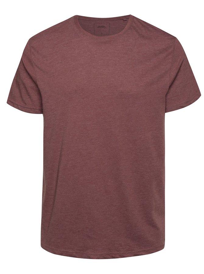 Vínové žíhané triko Burton Menswear London