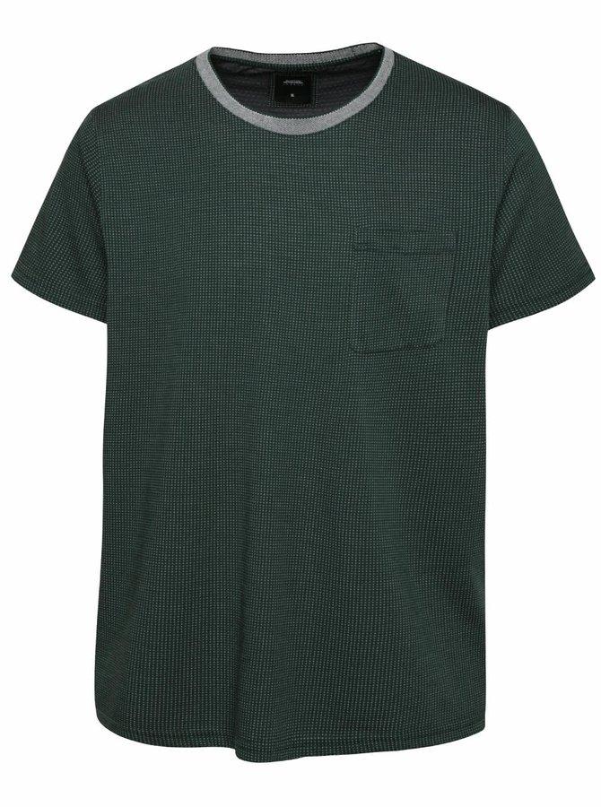 Tmavozelené tričko so vzorom Burton Menswear London