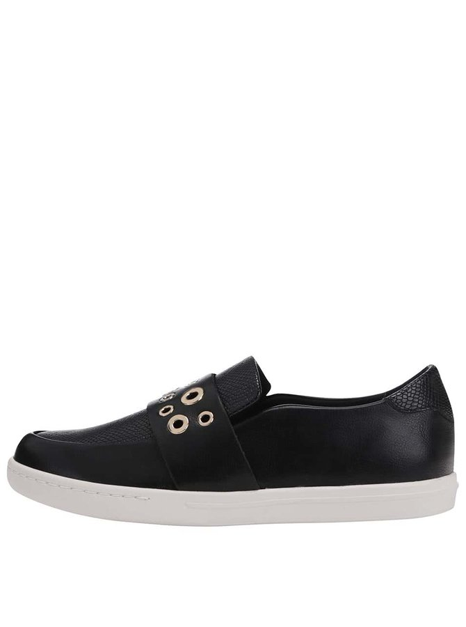Černé boty s kovovými detaily ALDO Satch