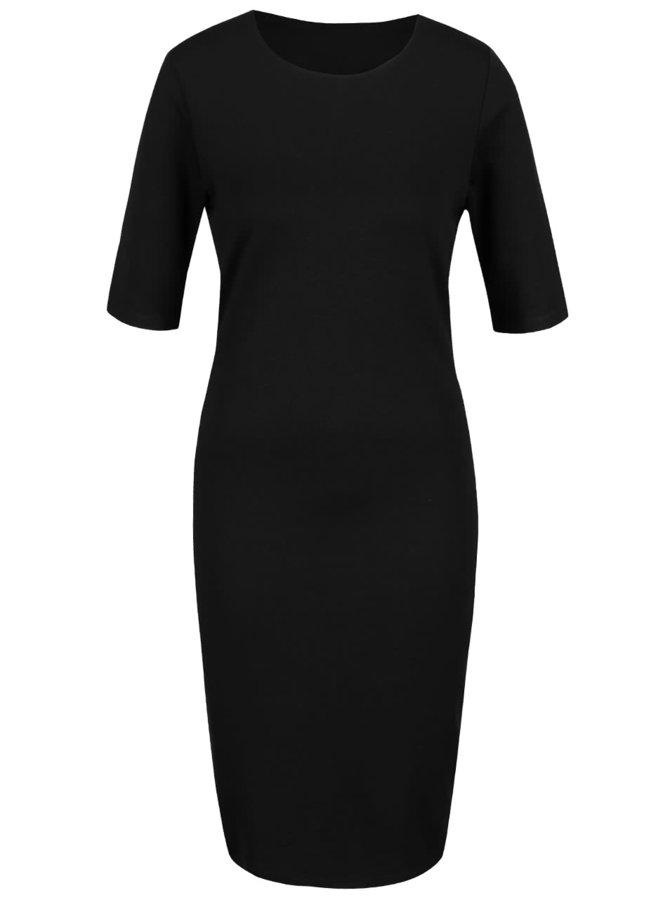 Černé šaty s krátkým rukávem ONLY Bella