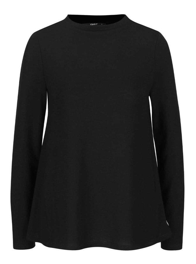Černý volné tričko s dlouhým rukávem ONLY Emmelie