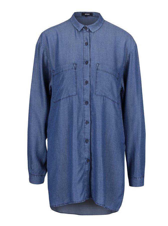 Modrá denimová dlouhá košile s kapsami Alchymi Dhani