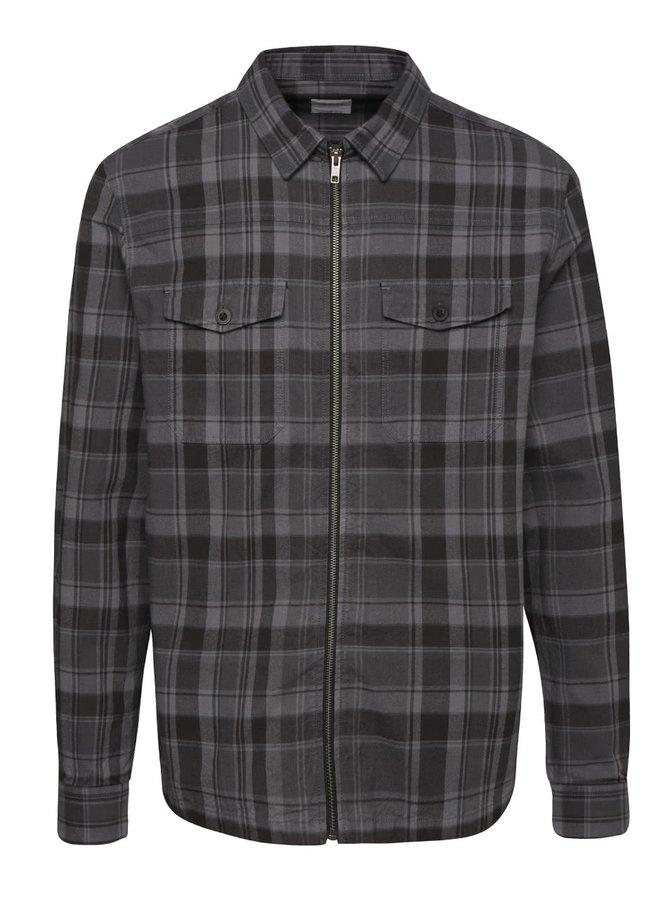 Sivo-čierna károvaná ľahká bunda Burton Menswear London