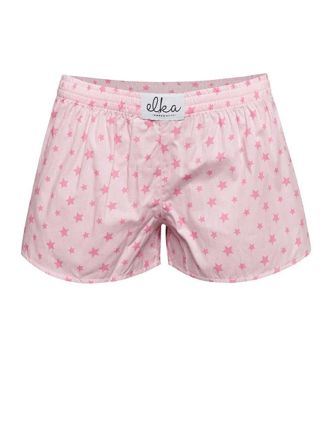 Ružové dámske trenírky s motívom hviezd El.Ka Underwear