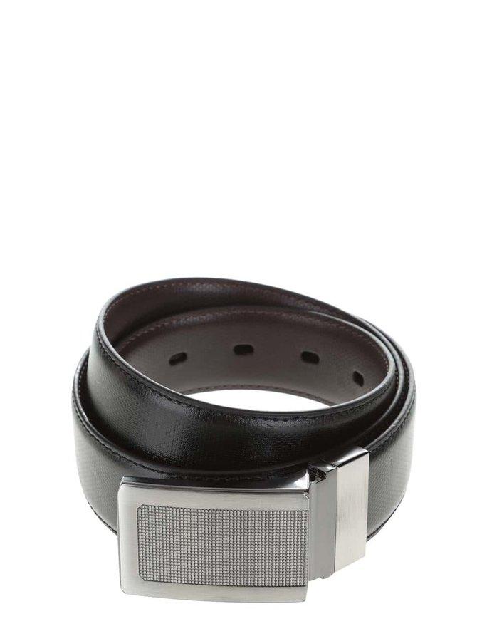 Čierny opasok s jemným vzorom Burton Menswear London