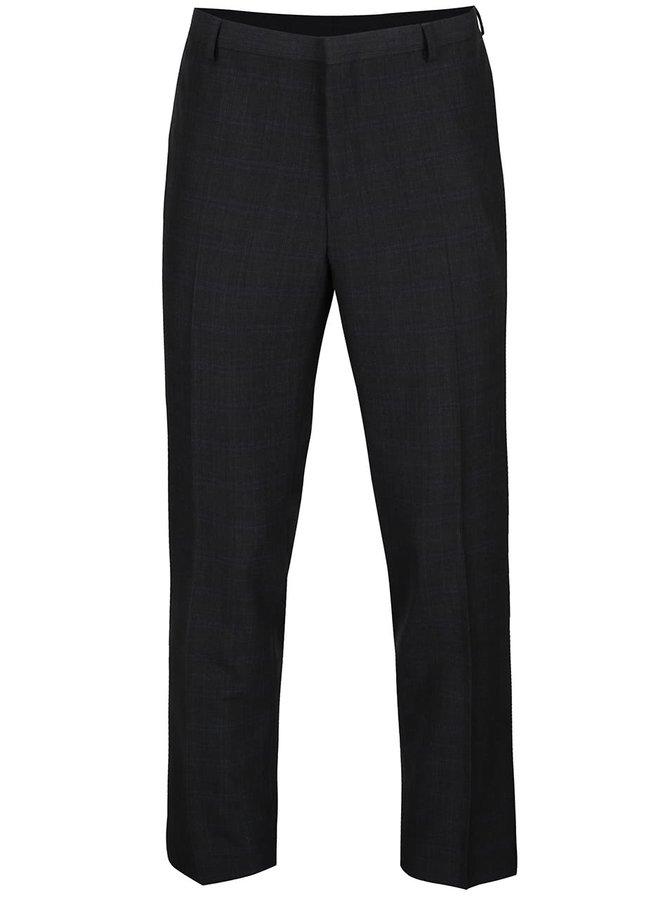 Tmavě šedé slim kalhoty s jemným kostkovaným vozrem Burton Menswear London