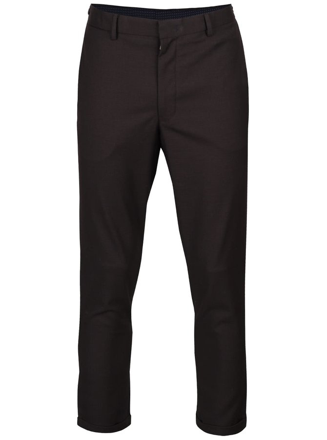 Sivohnedé skinny nohavice s jemným vzorom Burton Menswear London