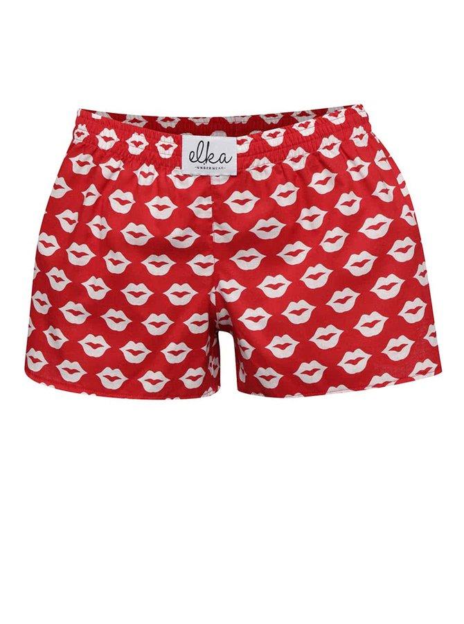 Bielo-červené dámske trenírky s potlačou El.Ka Underwear