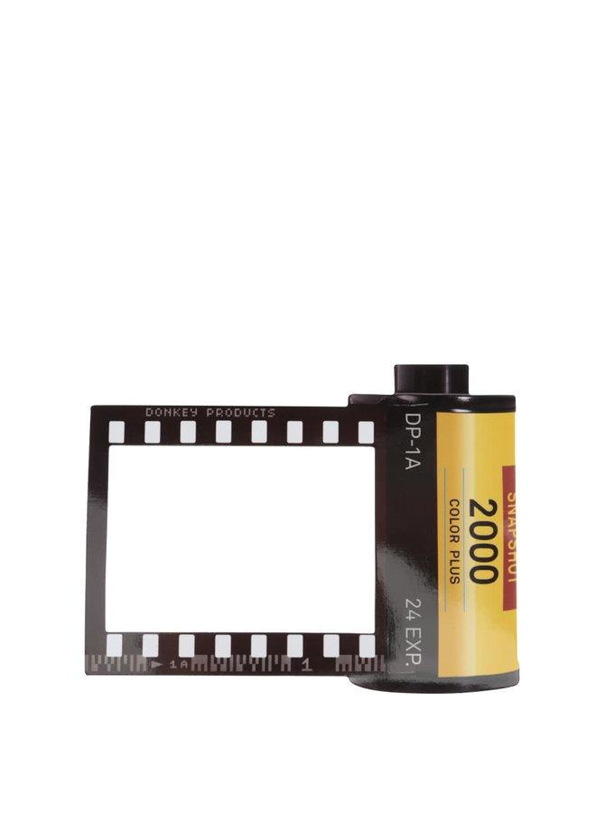 Žluto-černý magnet na lednici ve tvaru rámečku  Donkey Daily Film Star