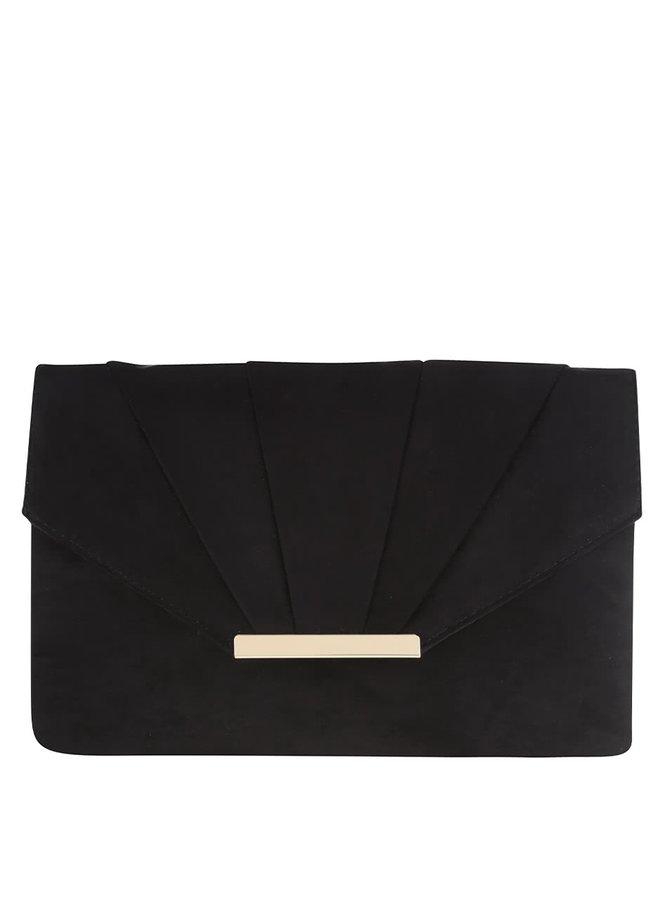 Čierna listová kabelka v semišovej úprave Dorothy Perkins