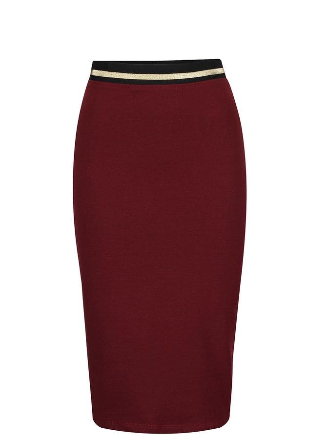 Vínová přiléhavá sukně ZOOT