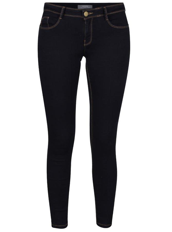 Tmavě modré elastické skinny džíny Dorothy Perkins