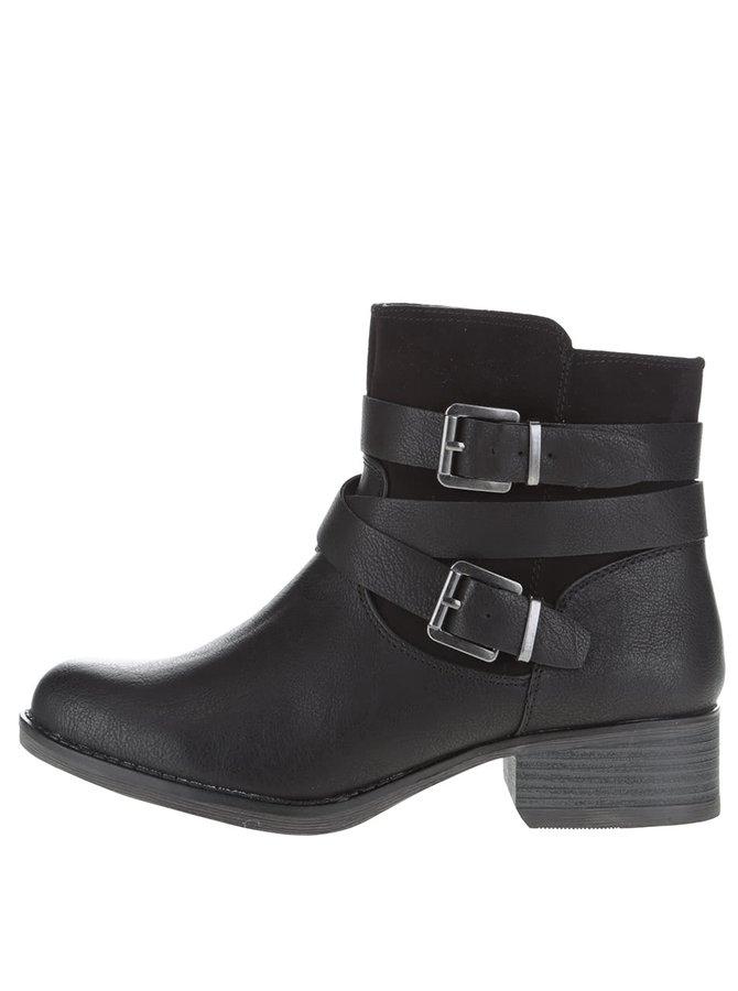Černé kotníkové boty s páskem Dorothy Perkins