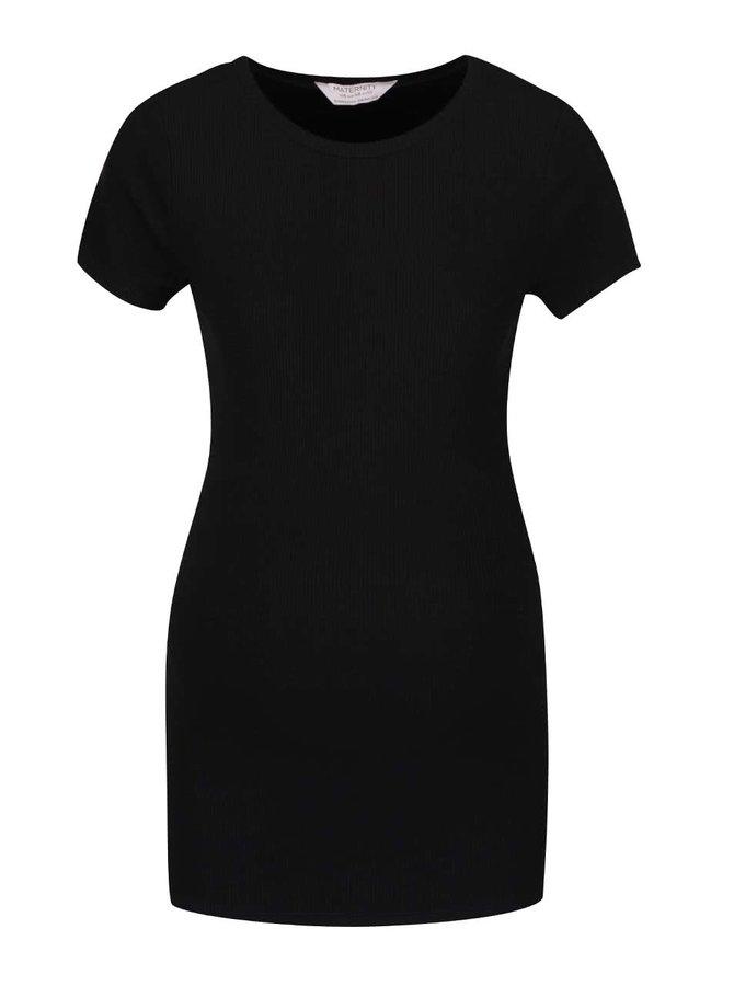 Čierne rebrované tehotenské tričko Dorothy Perkins Maternity