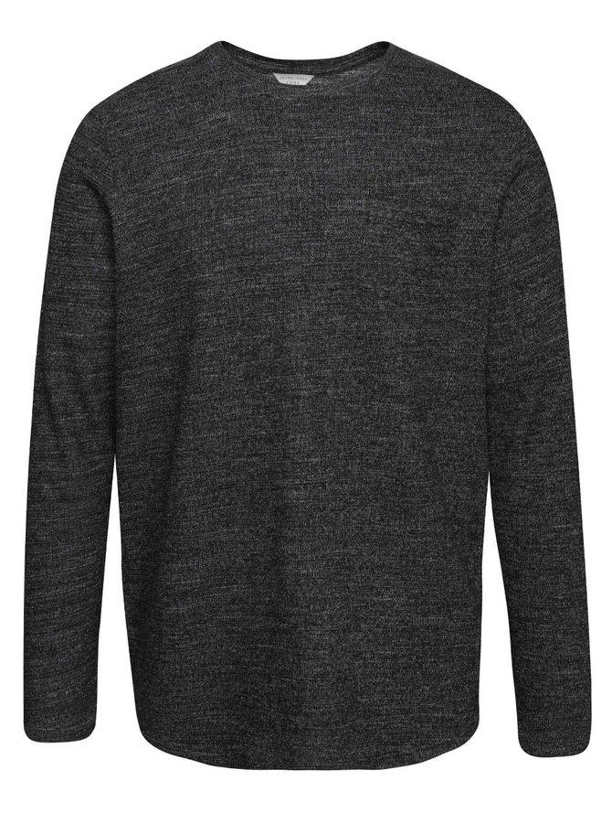Čierny žíhaný ľahký sveter Jack & Jones Ozil