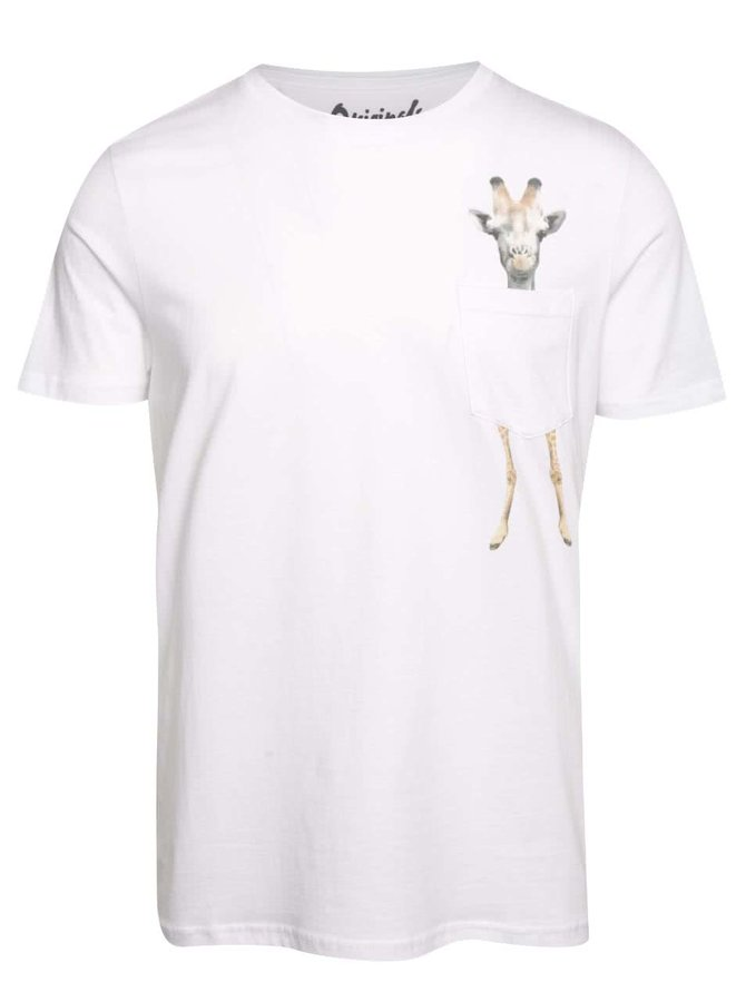 Biele tričko s potlačou vo vrecku Jack & Jones Pocket
