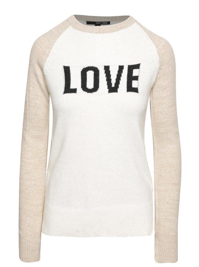 Béžovo-krémový dámsky ľahký sveter TALLY WEiJL