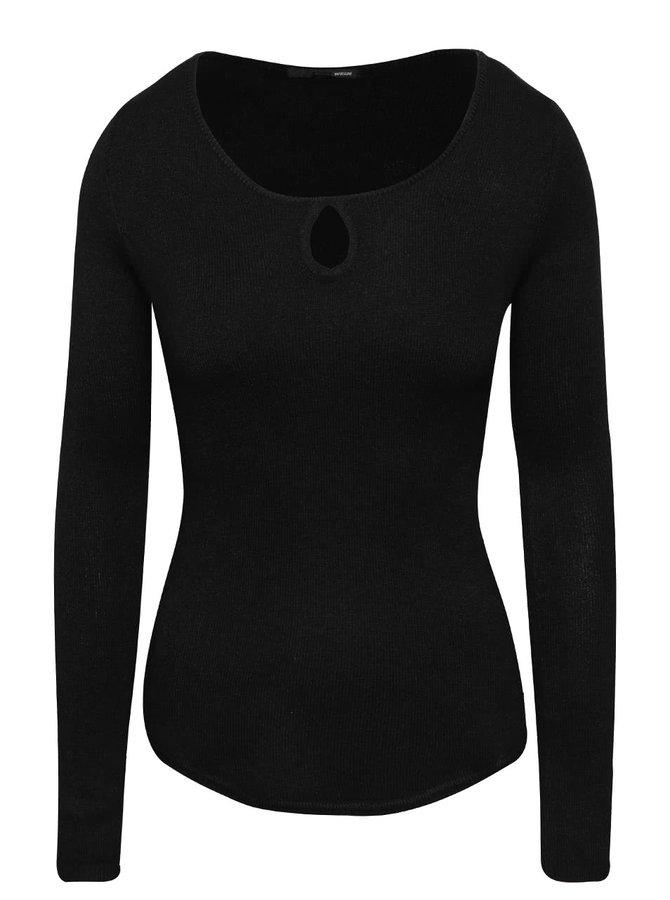 Čierny sveter s priestrihom v dekolte TALLY WEiJL