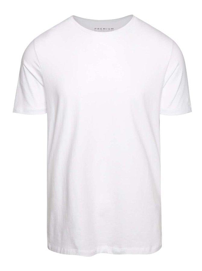 Bílé basic triko s krátkým rukávem Jack & Jones Pima