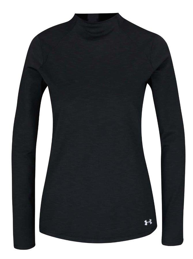Černé dámské funkční tričko s dlouhým rukávem Under Armour ColdGear Armour Mock