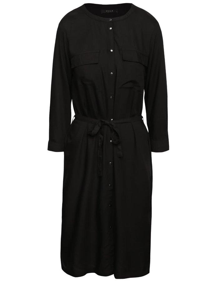 Čierne košeľové šaty VILA Ellen