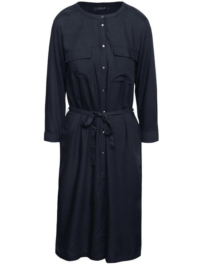 Tmavě modré košilové šaty VILA Ellen