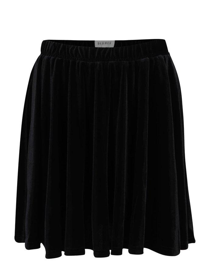 Černá sametová sukně Desires Gila