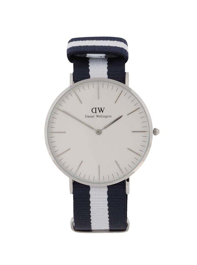 Krémovo-modré dámské hodinky CLASSIC Glasgow Daniel Wellington