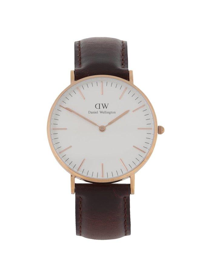 Dámské hodinky ve zlaté barvě CLASSIC Bristol Daniel Wellington