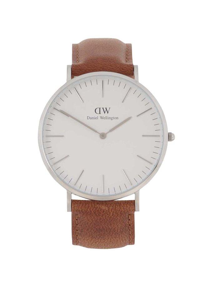 Pánské hodinky ve stříbrné barvě CLASSIC Durham Daniel Wellington