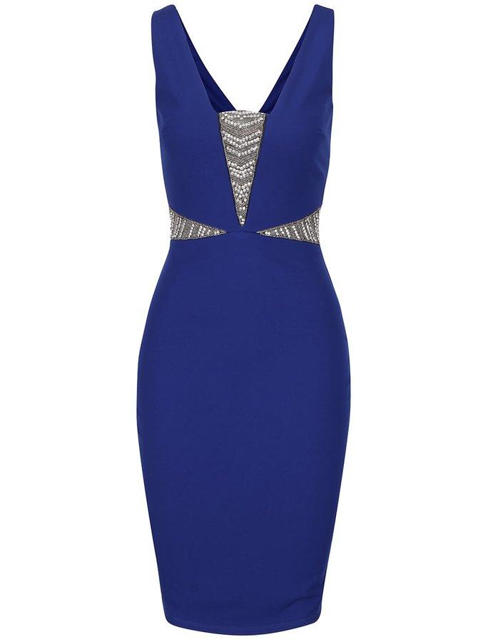 Modré šaty so zdobeným lonom Goddiva