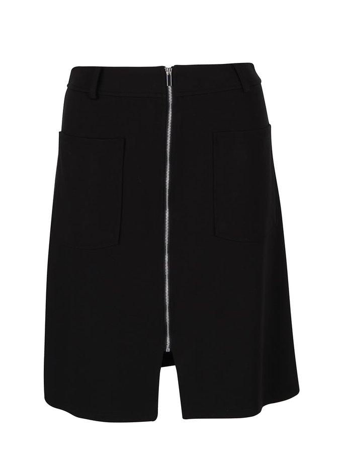 Černá sukně s kapsami a zipem Dorothy Perkins
