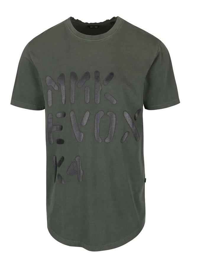 Tmavě zelené triko s potiskem ONLY & SONS Lucas