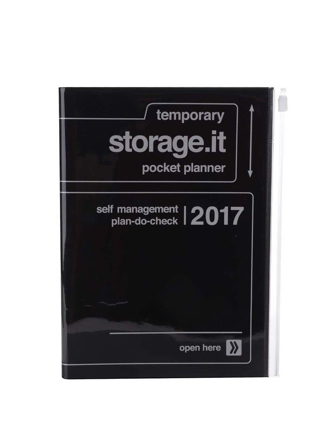 Černý diář 2017 A5 Mark's STORAGE IT.