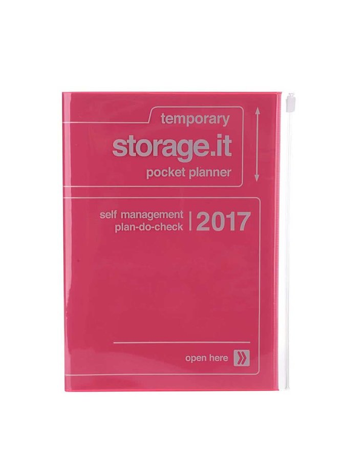 Neonově růžový diář 2017 A5 Mark's STORAGE IT.