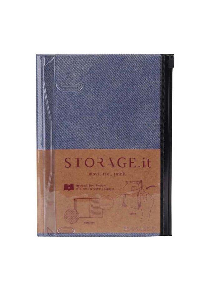 Modrý denimový zápisník A5 Mark's STORAGE.IT